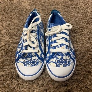 Blue Coach Sneakers